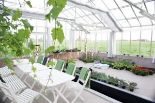 Växthus med isolerglas och lackade profiler